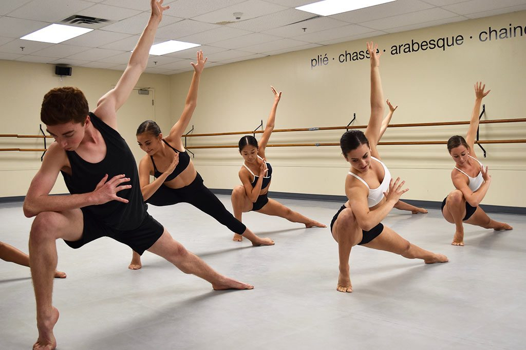 Senior dancers in the studio